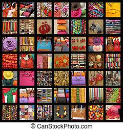 collage, accessoires