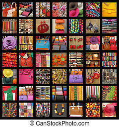 collage, accessoirs