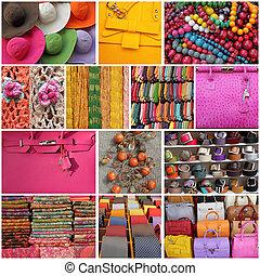 collage, accessori
