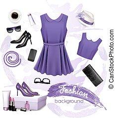 collage, accessories., mode, weibliche , vektor