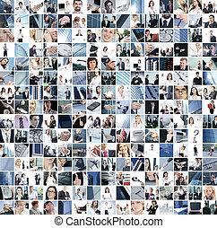 collage, affär