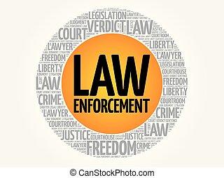 collage, aplicación, ley, palabra, nube