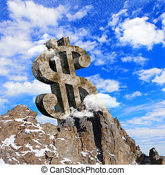 collage, argent, thème, business
