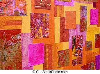 collage, art, coloré