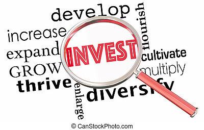 collage, aumentar, aumentar, invierta, vidrio, crecer, ...