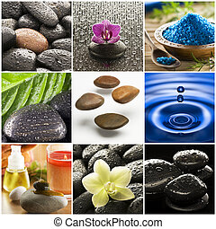 Collage - Beautiful colorful zen like collage made from nine...