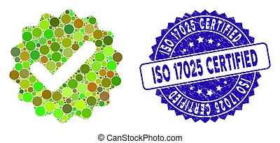 Collage Best Medallion Icon with Textured ISO 17025 Certified Seal