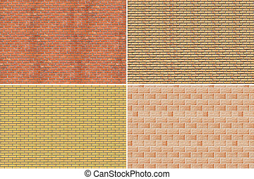 Collage. Brick wall