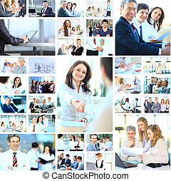 collage, businesspeople