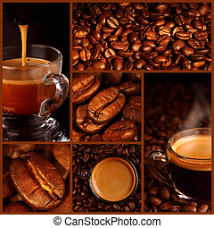 collage, caffè, espresso