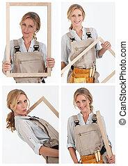 collage, charpentier
