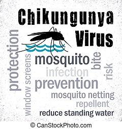 collage, chikungunya, zanzara, virus
