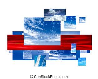 collage, ciel
