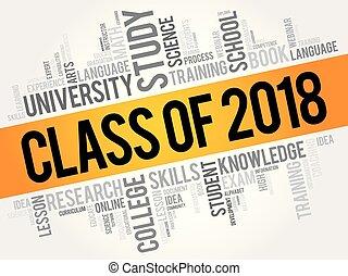 collage, clase, 2018, palabra, nube