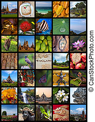 Collage composed of various photos to show versatility of Thailand
