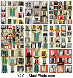 collage, con, vario, windows