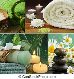 collage, concept, spa