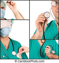 collage, concepts médicaux
