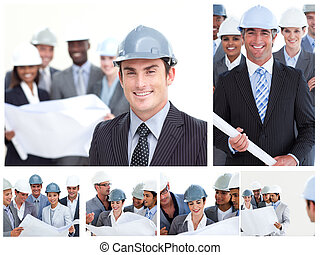 collage, construction, gens