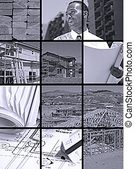 collage, construction