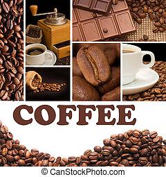 collage, da, fragrante, caffè