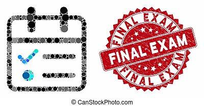 Collage Day Tasklist with Grunge Final Exam Seal