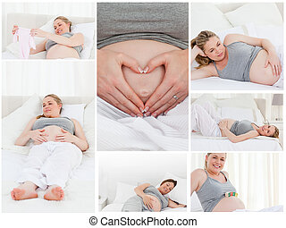 collage, de, a, femme enceinte