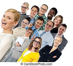 collage, de, feliz, diferente, gente
