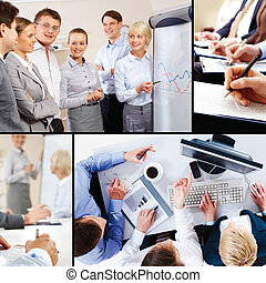 collage, de, interacción negocio