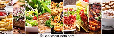 collage, de, produits nourriture