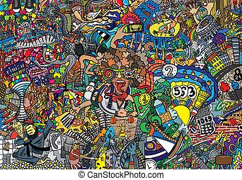 collage, deportes