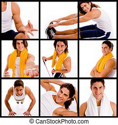 collage, -, deportes, ultimate