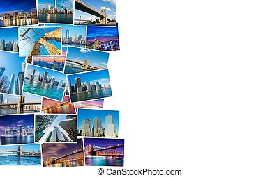 collage, di, new york, foto