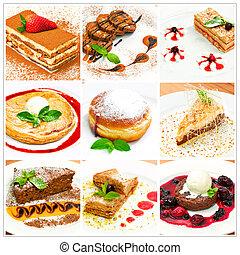 collage, dolce, differente, dessert