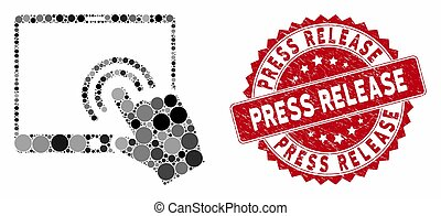 Collage Double Click Tablet with Distress Press Release Stamp