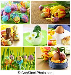 collage Easter symbols