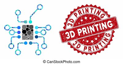 Collage Electronics with Scratched 3D Printing Seal