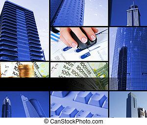 collage, elementer, firma