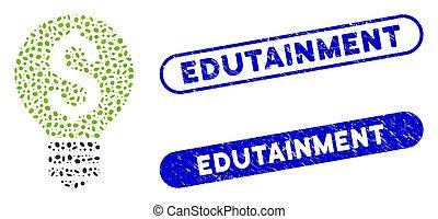 collage, elipse, edutainment, textured, sellos, idea, empresa / negocio