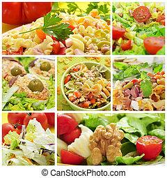 collage, ensalada