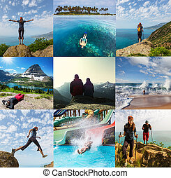 collage, escursione