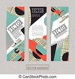 collage, estilo, bandera, plantilla, diseño