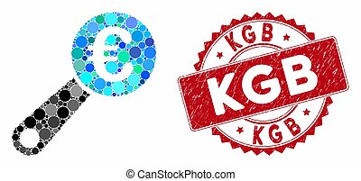 Collage Euro Audit with Distress KGB Seal