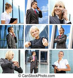 collage, fait, de, quelques-uns, business, images
