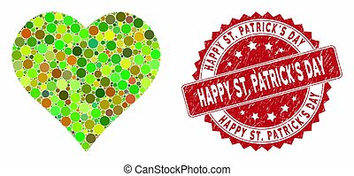Collage Favourites with Distress Happy St. Patrick'S Day Stamp
