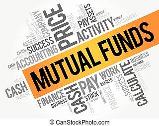 collage, fondi, comune, parola, nuvola