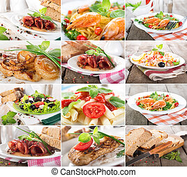 Collage food