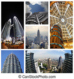 Petronas Twin Towers - Collage from 6 photos Petronas Twin...