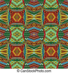 collage, gemaakt, van, textiel, patchworks