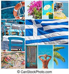 collage, griechenland